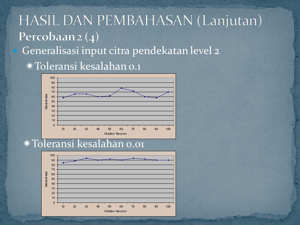HASIL DAN PEMBAHASAN (Lanjutan) Percobaan 2 (4)