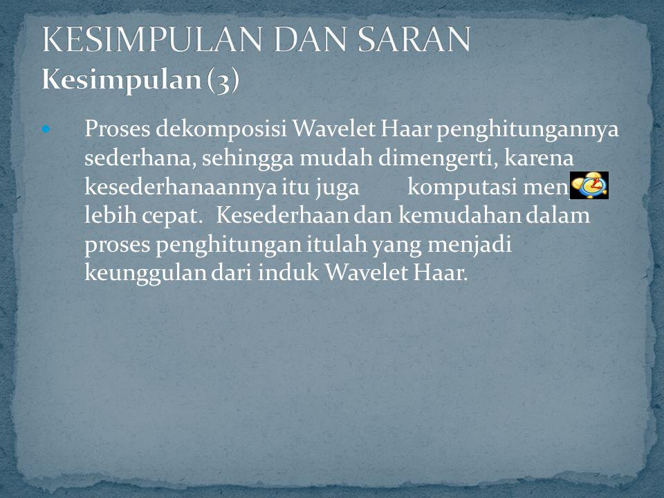 KESIMPULAN DAN SARAN Kesimpulan (3)