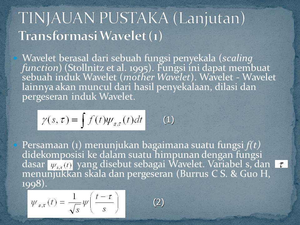 TINJAUAN PUSTAKA (Lanjutan) Transformasi Wavelet (1)