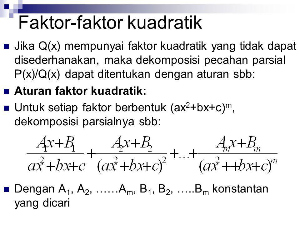 Faktor-faktor kuadratik