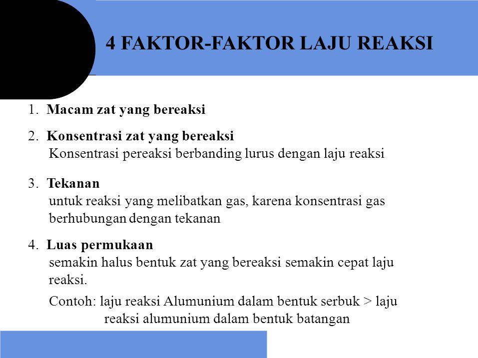 4 FAKTOR-FAKTOR LAJU REAKSI