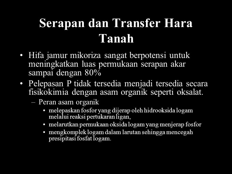 Serapan dan Transfer Hara Tanah