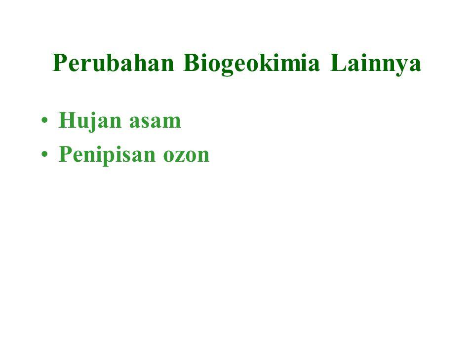 Perubahan Biogeokimia Lainnya