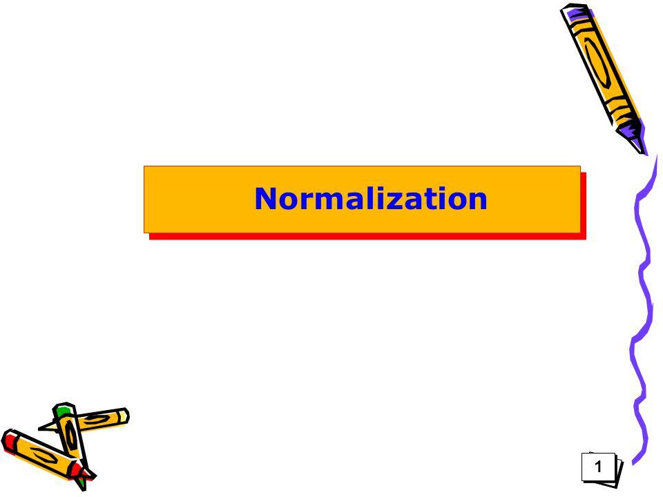 Normalization 1