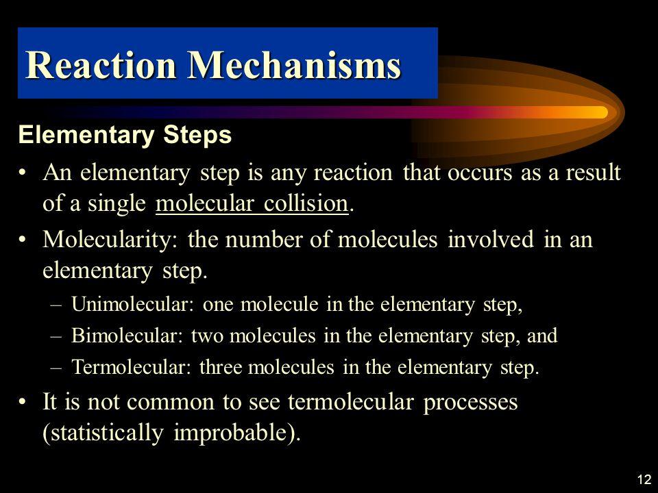 Reaction Mechanisms Elementary Steps