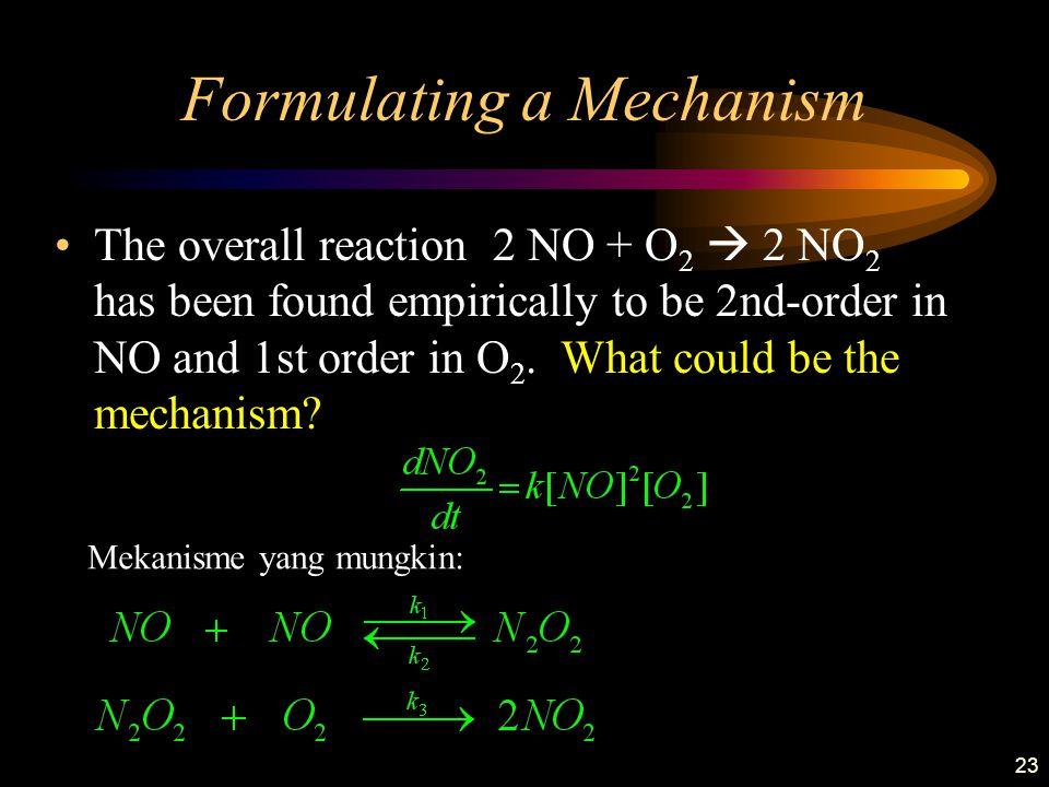 Formulating a Mechanism