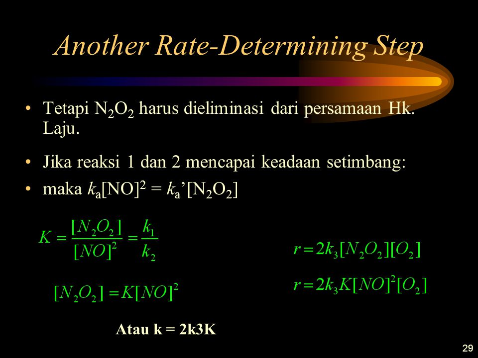 Another Rate-Determining Step
