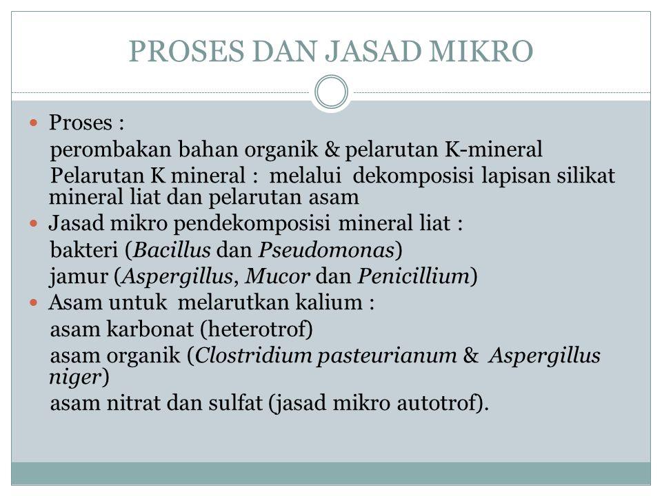 PROSES DAN JASAD MIKRO Proses :