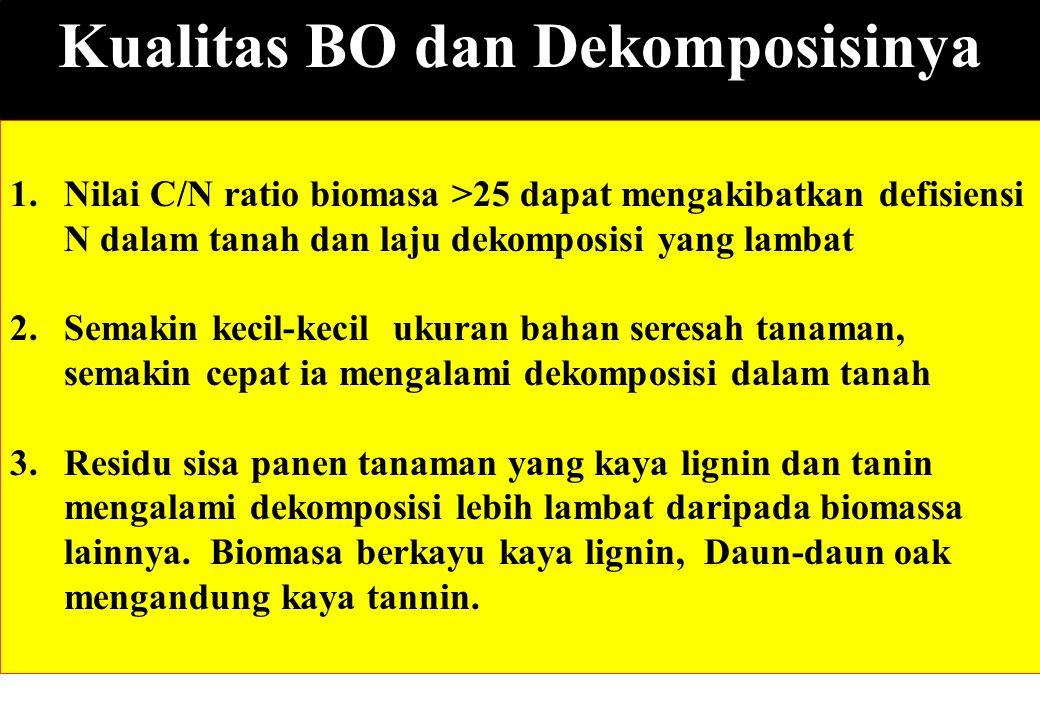 Kualitas BO dan Dekomposisinya