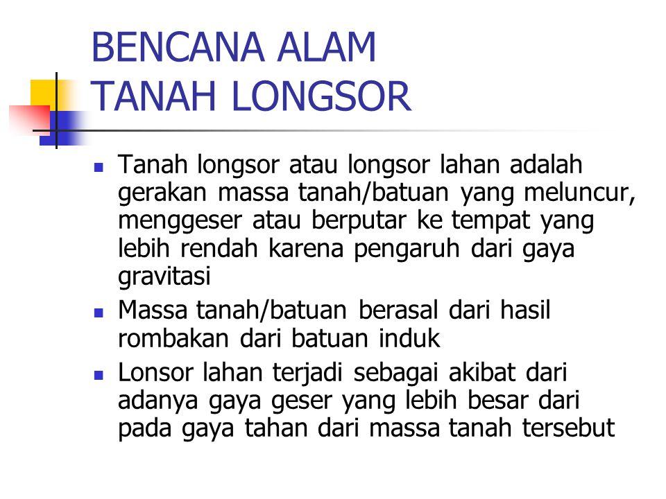 BENCANA ALAM TANAH LONGSOR