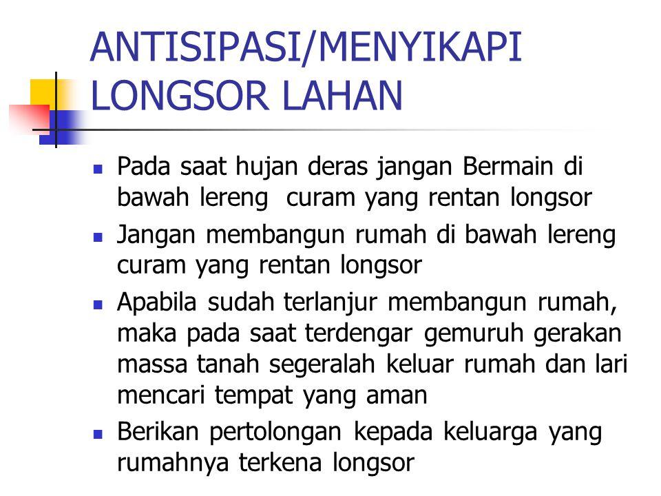 ANTISIPASI/MENYIKAPI LONGSOR LAHAN