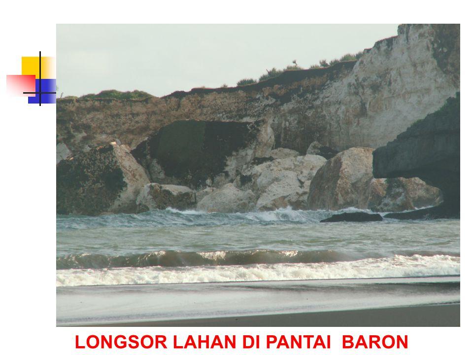 LONGSOR LAHAN DI PANTAI BARON