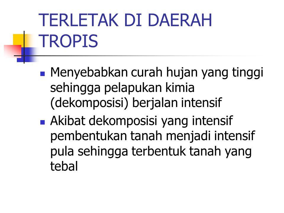 TERLETAK DI DAERAH TROPIS