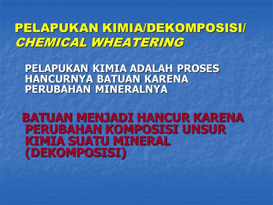 PELAPUKAN KIMIA/DEKOMPOSISI/ CHEMICAL WHEATERING