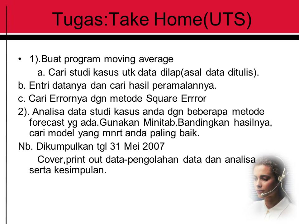 Tugas:Take Home(UTS) 1).Buat program moving average