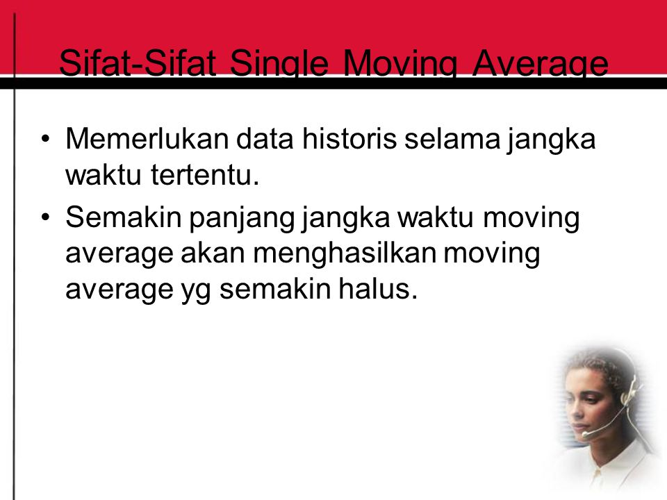 Sifat-Sifat Single Moving Average