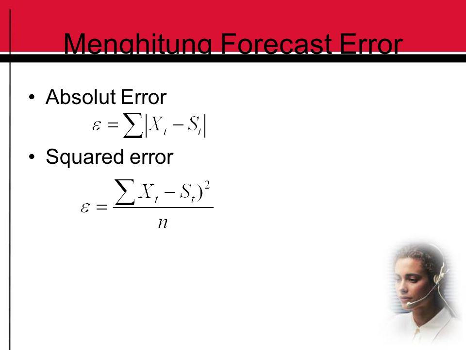 Menghitung Forecast Error