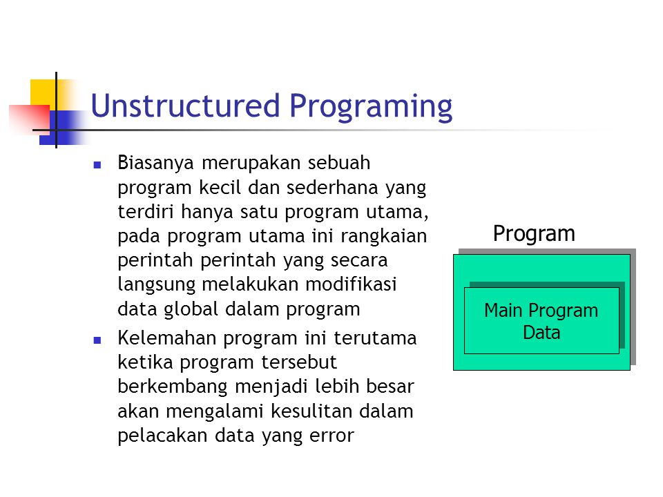Unstructured Programing
