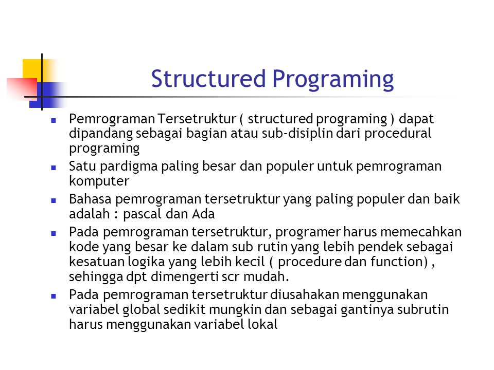 Structured Programing