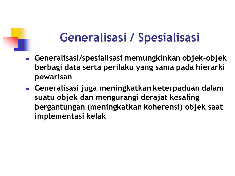 Generalisasi / Spesialisasi