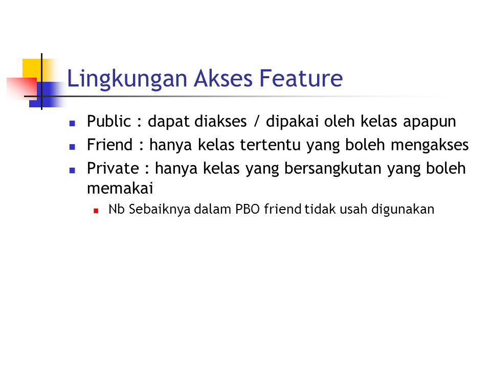 Lingkungan Akses Feature