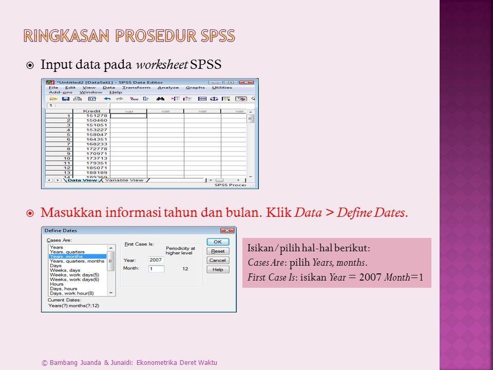 Ringkasan Prosedur SPSS