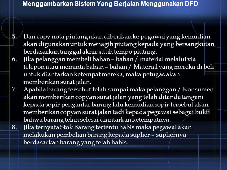 Menggambarkan Sistem Yang Berjalan Menggunakan DFD