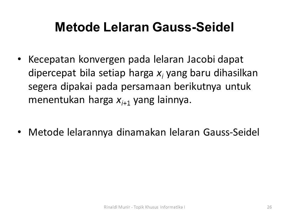 Metode Lelaran Gauss-Seidel