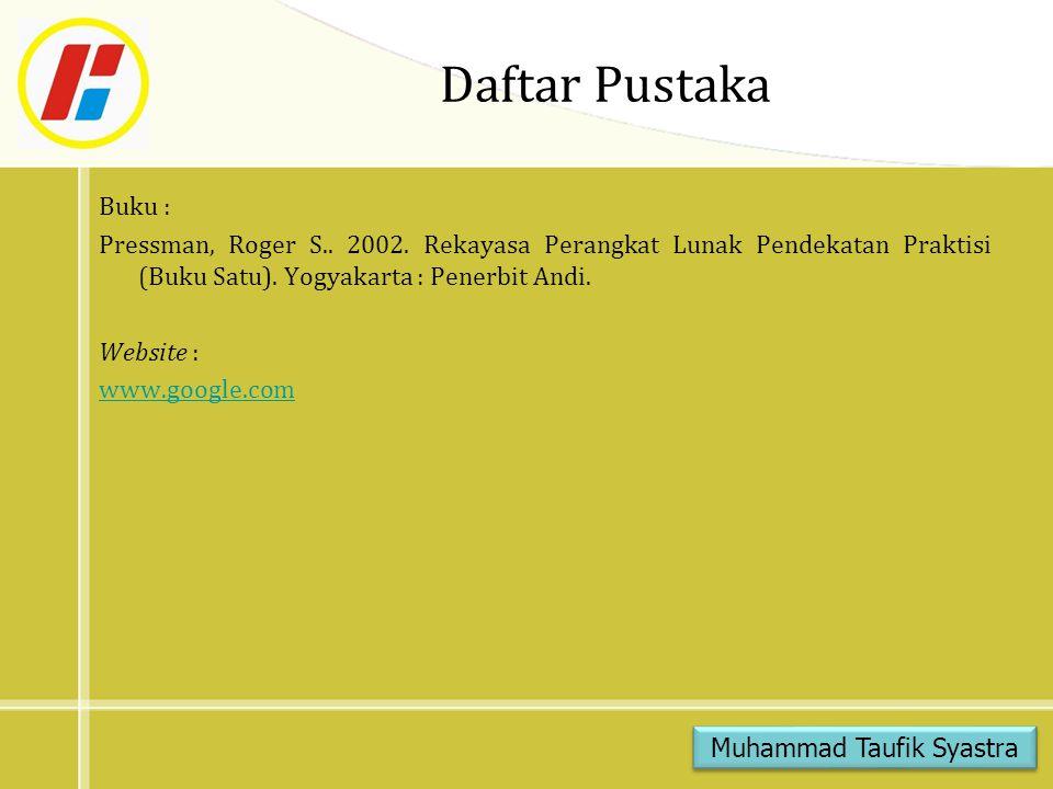 Muhammad Taufik Syastra