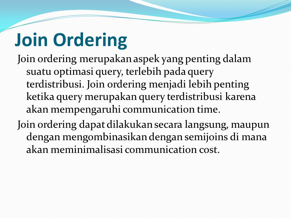 Join Ordering