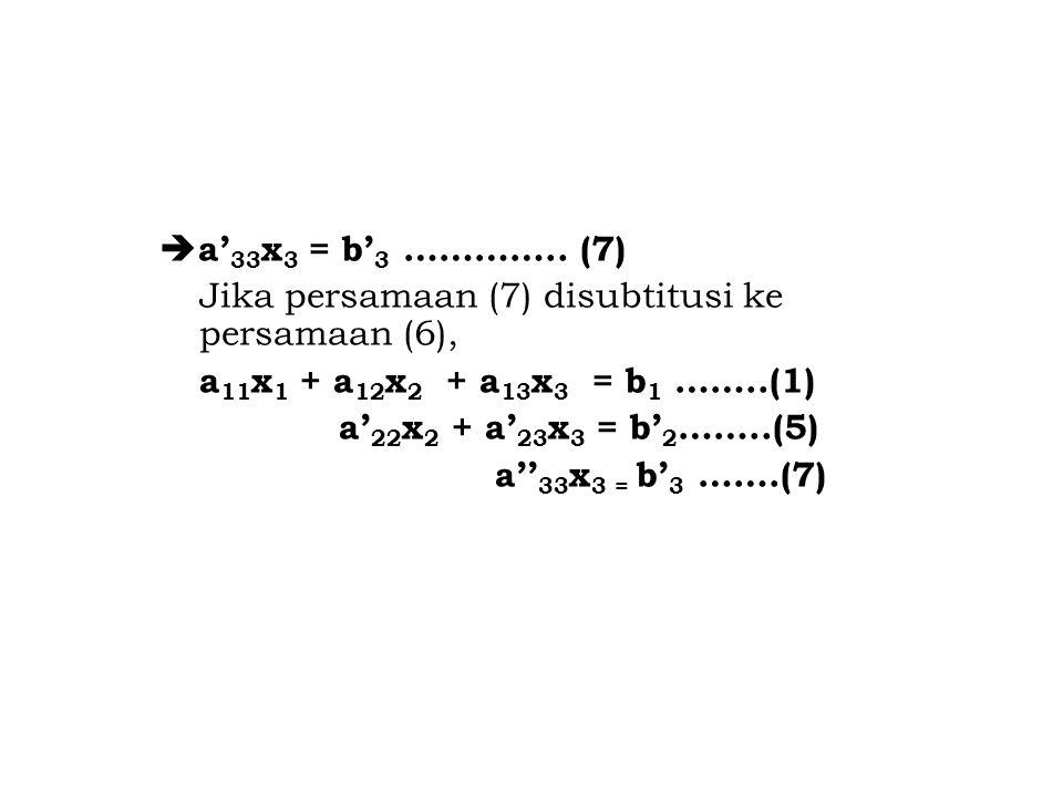 a'33x3 = b'3 …………..