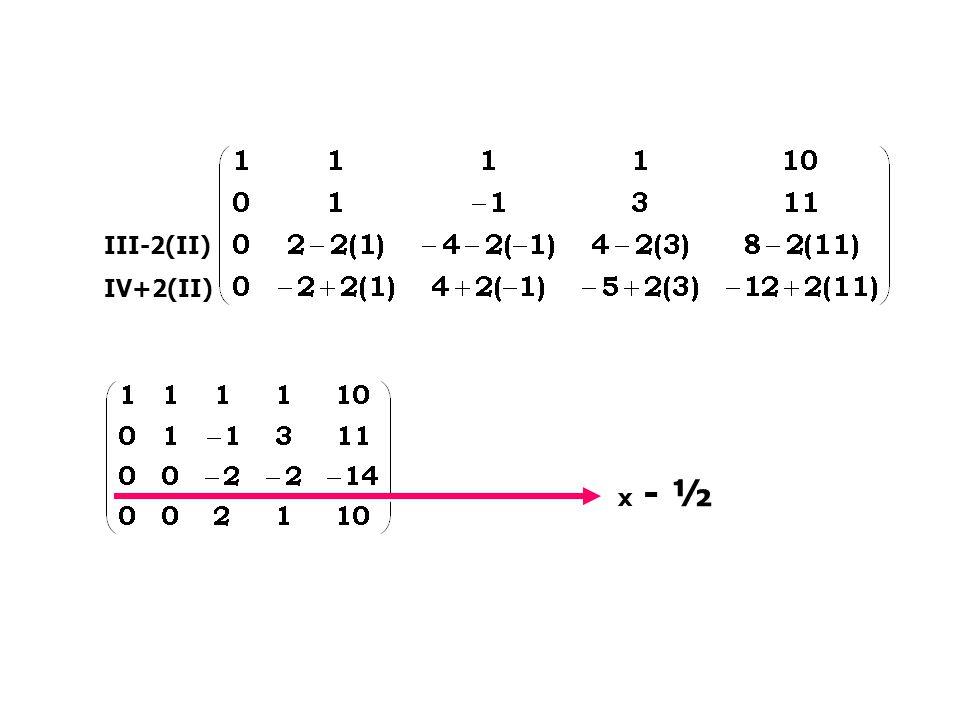 III-2(II) IV+2(II) x - ½