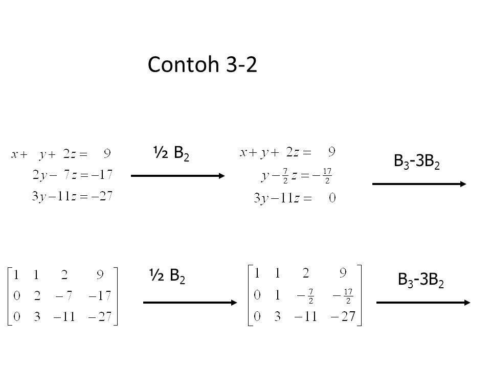 Contoh 3-2 ½ B2 B3-3B2 ½ B2 B3-3B2