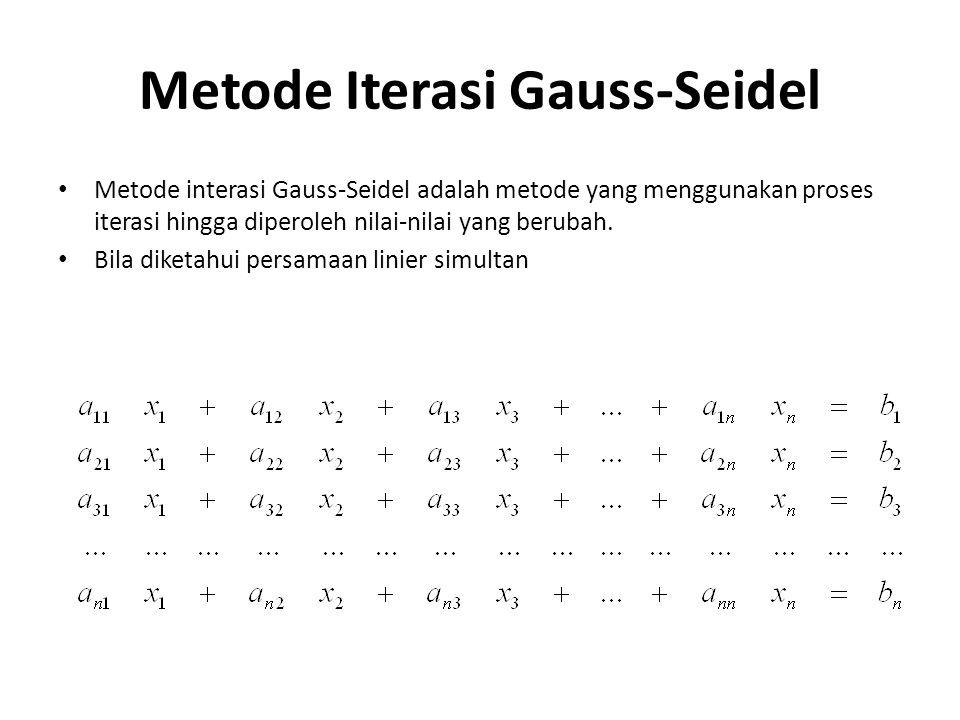Metode Iterasi Gauss-Seidel