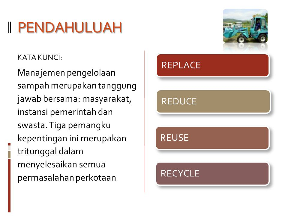 PENDAHULUAH REPLACE REDUCE REUSE RECYCLE