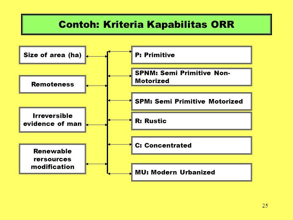 Contoh: Kriteria Kapabilitas ORR