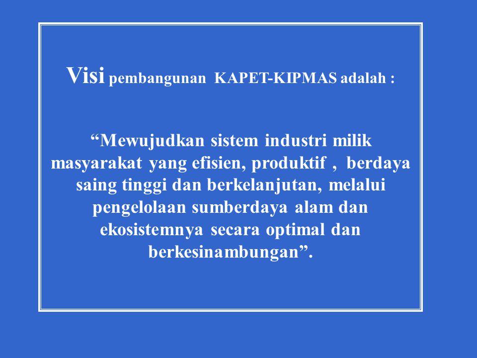 Visi pembangunan KAPET-KIPMAS adalah :