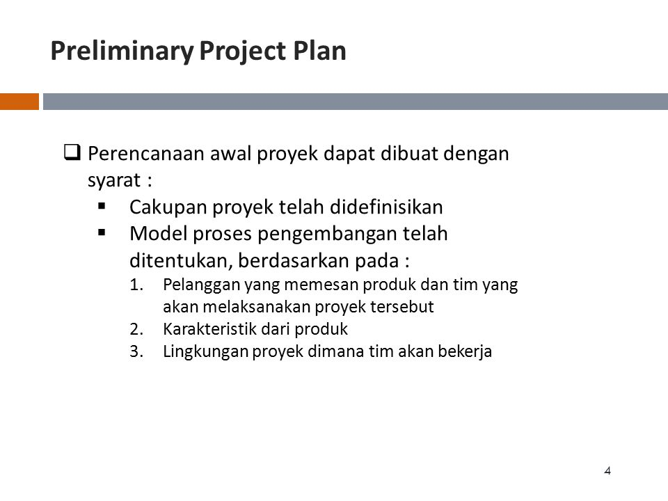 Preliminary Project Plan