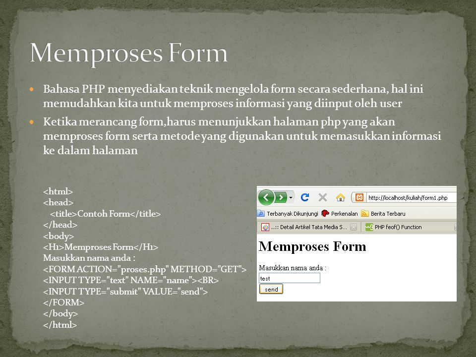 Memproses Form