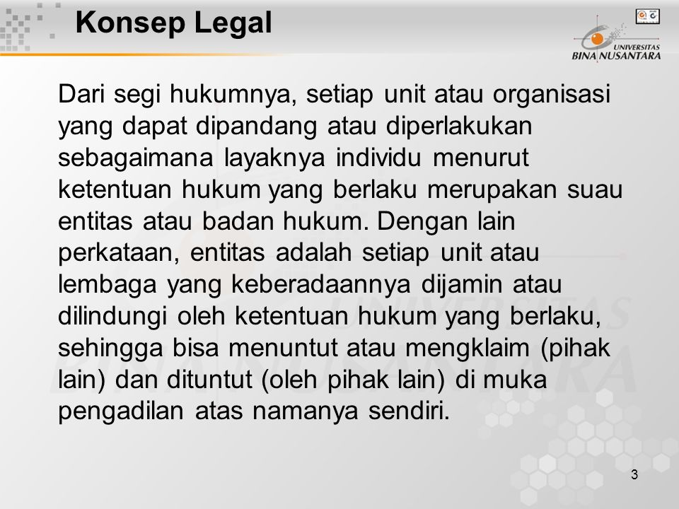 Konsep Legal