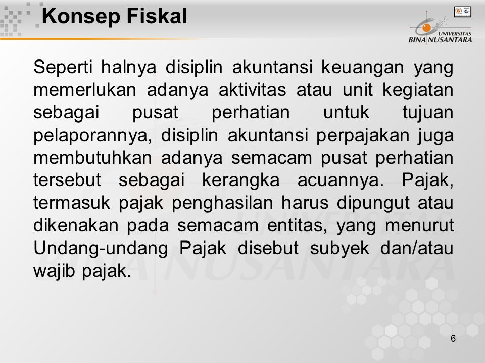 Konsep Fiskal