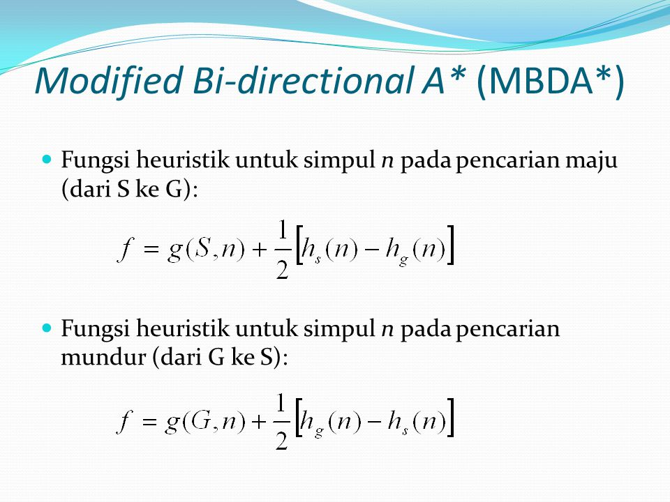 Modified Bi-directional A* (MBDA*)