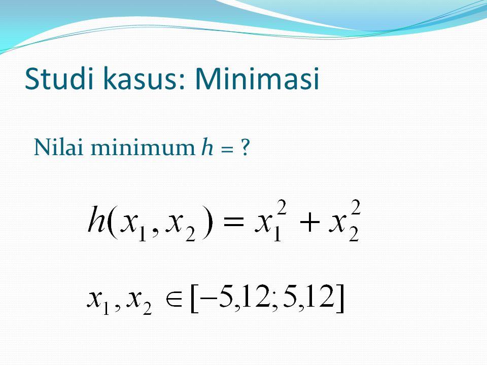 Studi kasus: Minimasi Nilai minimum h =