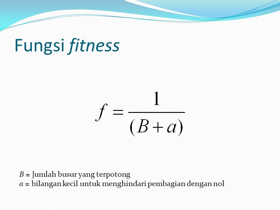 Fungsi fitness B = Jumlah busur yang terpotong