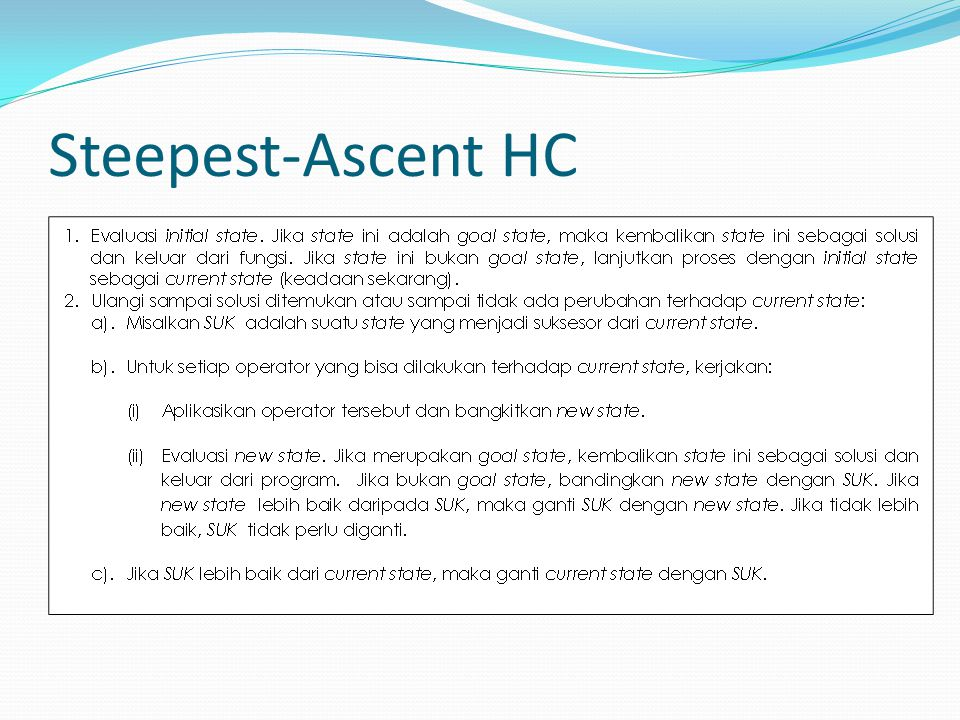 Steepest-Ascent HC