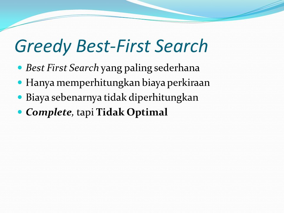 Greedy Best-First Search