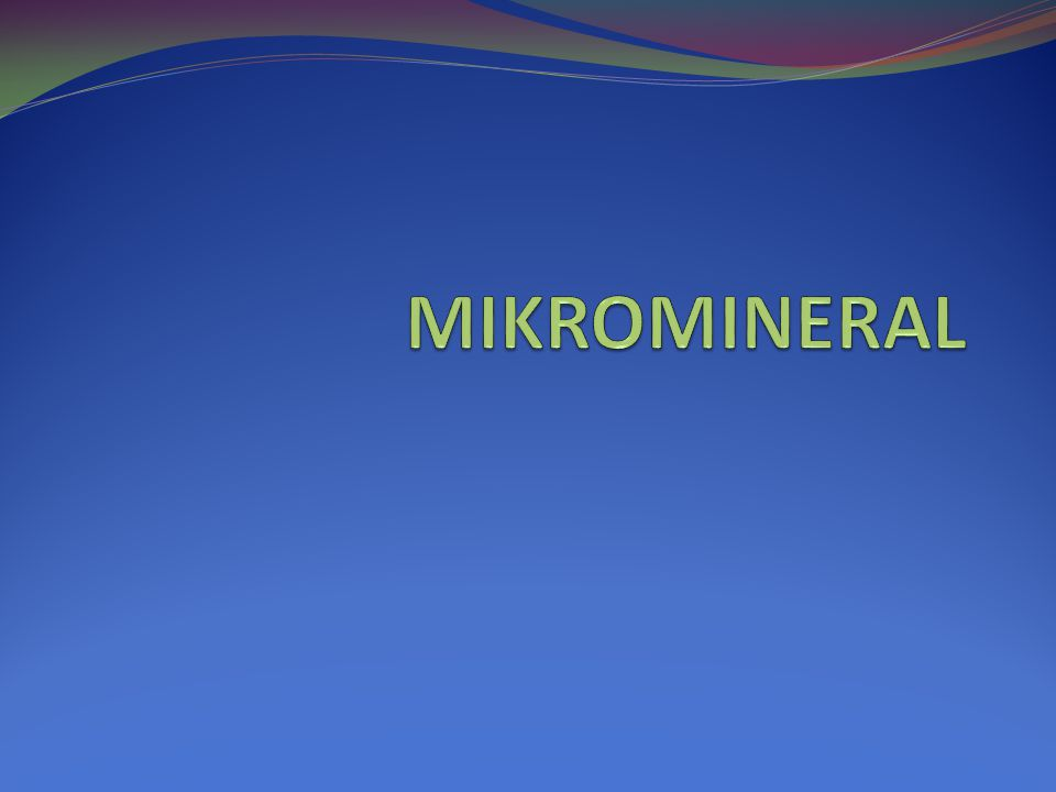MIKROMINERAL