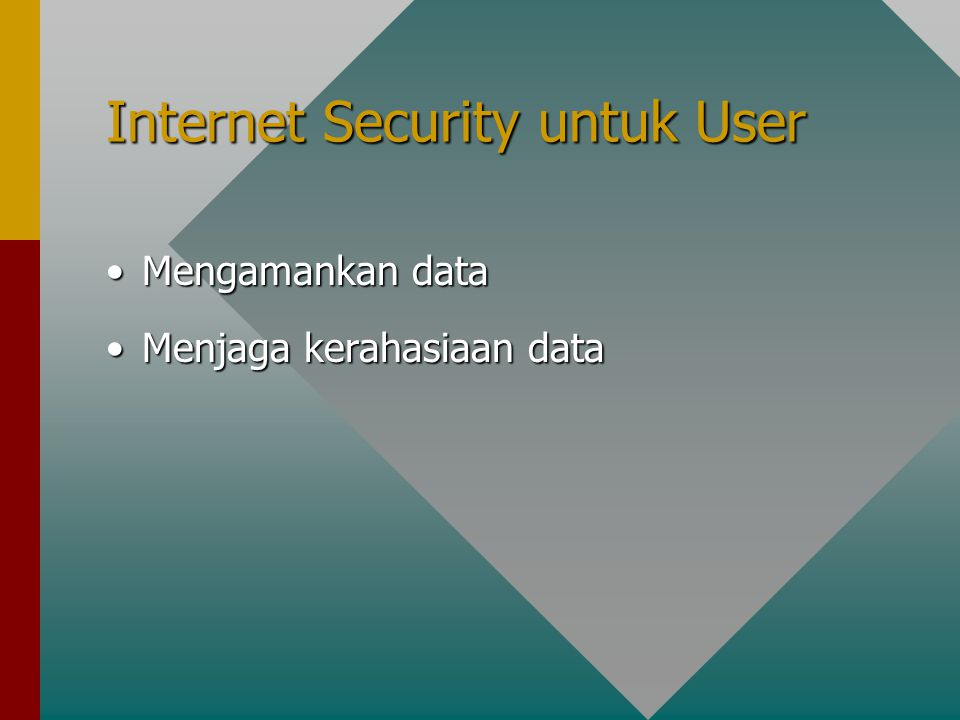 Internet Security untuk User