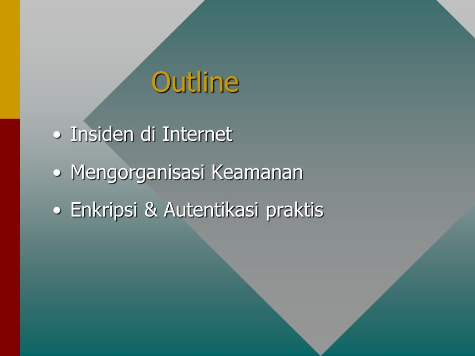 Outline Insiden di Internet Mengorganisasi Keamanan