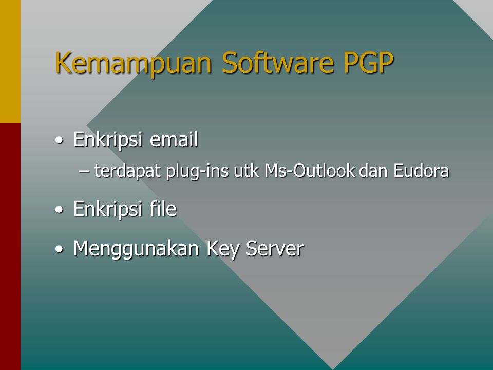 Kemampuan Software PGP